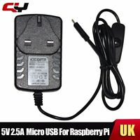 For Raspberry Pi 2 3 Tablet UK 5v 2.5A Micro USB Charger Power Adapter