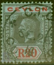 Ceylon 1912 20R Black and Red-Blue SG319 Very Fine Used