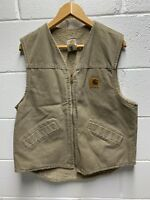 Vintage Carhartt Vest Sherpa Lined Mens Size Medium Made In USA 90s Outdoors