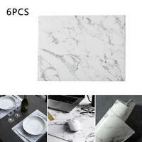 6PCS  Marble Pattern Dining Table Place Mats Heat Insulation Non Slip Placemats