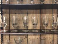 Série de 6 Verres Soufflé a Absinthe Ancien XIXeme Antique French Glass