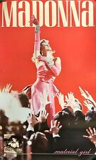 "MADONNA MATERIAL GIRL POSTER 1985 22 1/4"" X 13 1/2"" ROLLED USED CONDITION"
