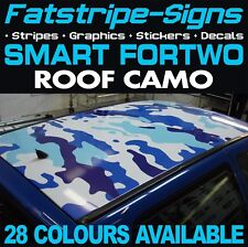 SMART CAR FORTWO CAMO ROOF GRAPHICS STICKERS STRIPES DECALS COUPE CONVERTABLE