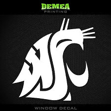 "Washington State - Cougars - NCAA - White Vinyl Sticker Decal 5"""