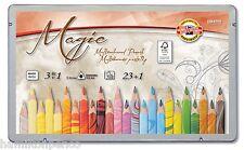 Koh-i-noor 3408 Magic Lápices De Colores-Juego De 23 Colores con Blender Lápiz