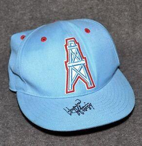 HAYWOOD JEFFIRES Signed Vintage MITCHELL & NESS Houston Oilers Cap AUTOGRAPHED