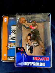 "Allen Iverson Philadelphia 76ers 2004 McFarlane Action Figure ""BLACK"" 🏀👀🔥💎"