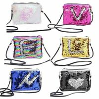 Women Glitter Sequin Handbag Small Makeup Bags Crossbody Shoulder Bag Coin Purs