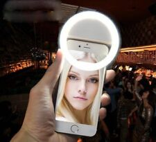 Selfie Light LED Ring Flash Fill Clip Camera for Phone Tablet iPhone Samsung HTC