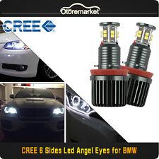 For BMW 120W H8 CREE LED Angel Eyes Halo Ring Bulbs White Canbus E90 E92 E60 E61