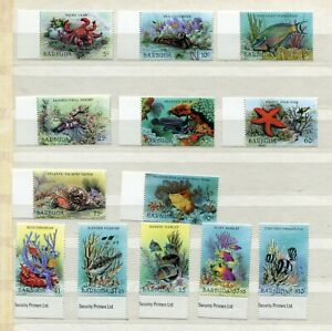FAUNA_914 1987 Barbuda marine life fish 13 pc MNH Combined payments & shipping