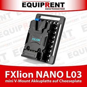 FXlion NANO L03 mini V-Mount Akkuplatte mit D-Tap auf Gewinde Cheeseplate EQR53