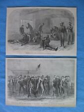 2 1883 Civil War Prints Relating to Union Prisoners at Belle Island, Richmond,VA