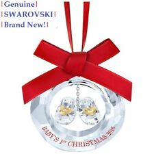 Swarovski BABY'S FIRST CHRISTMAS Annual Ornament 2016 5222558 NEW in Gift Box!