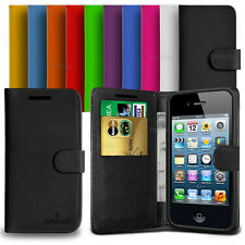 Custodia Case Flip Cover Pelle Portafogli Per Apple iPhone 4 - 4s