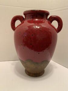 Southern Living at Home Stoneware Verona Olive Jar #40805 Red EUC