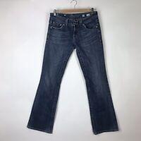 Miss Me Womens Size 30 Bootcut Jeans Fleur de Lis Rhinestone Embellished Rodeo