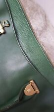 💚LK Bennett Large Rosamund Green Leather Bag - Used But Good Condition!💚