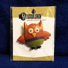 New in Package - Blossom Bucket Inc - OWL PIN - Handpainted - Alloy and Resin