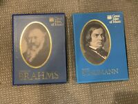 2 sets of Great Men of Music Time Life Schumann and Brahms b416