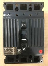 Ge Ted Ted134060 3 Pole 480V 60 Amp Circuit Breaker Black