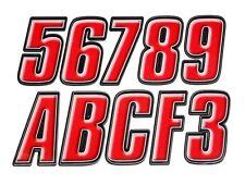 Letter Registration Kit Letter Number Sticker Decals Boat PWC Red Black Reg