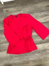 Top Shop Pink Wrap Blouse Size 6