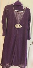 Pakistan dress/ kameez chooridar pajama ,lace gown , chiffon duppatta / 4 piec