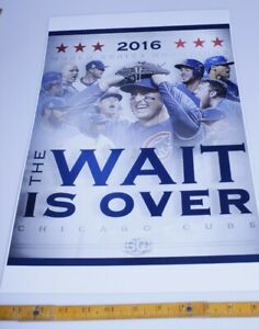 3 pack montage Chicago Cubs Celebrate Winning the 2016 World Series 12x18