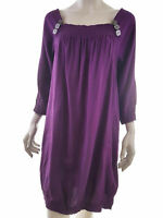 Dranella Women's Dress EU 42 UK 14 US 12 purple pockets rayon