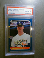 MARK MCGWIRE 1987 Donruss The Rookies RC Vintage Graded Card PSA 8 OAKLAND A's