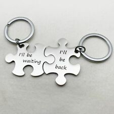 Coupels Jewelry Keychain I'll Be Waiting /back Stainless Steel Charm Keyring