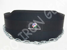 """Dip Neoprene Power Weight Lifting Gym Exercise Dipping Belt with Chain 6"""" Wide"""