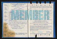 1977 North Melbourne Membership Premiership season Ticket Kangaroos Premiers r