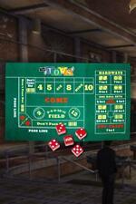 Fallout New Vegas 76 Tops Casino Craps Acrylic Dice SET + Fabric Playmat Figure