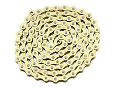 "New Bicycle Chain Gold  1/2 x 1/8 x 112"" 1/Speed Gold"