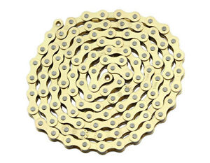 """New Bicycle Chain Gold  1/2 x 1/8 x 112"""" 1/Speed Gold"""