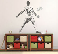 Wall Sticker Cristiano Ronaldo Vinyl Wallpaper Soccer Sport CR Removable Poster
