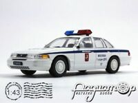 Ford Crown Victoria Police of Moscow 1992. Diecast model 1:43. Deagostini. NEW