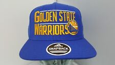 GOLDEN STATE WARRIORS FLAT BRIM SNAP BACK ONE SIZE NEW WITHOUT TAGS ADIDAS