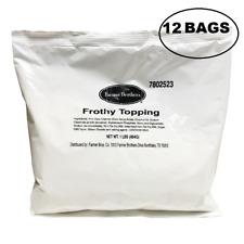 Cappuccino Topping 12 X 1 Lb Bags Powder Milk Topping.Creamer