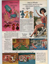 1965 PAPER AD Barbie Posable Beauty Salon Pepper Patti Dodi Tree House Swing