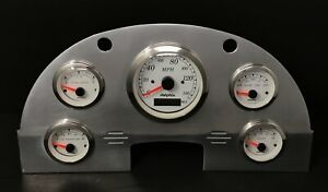 1956 Ford Car GPS 5 Gauge Dash Panel Set White
