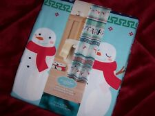 "Holiday Cheer Cloth Shower Curtain (Snowmen) New 70"" x 70"" St. Nicholas Square"