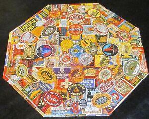 4 Springbok Shape Jigsaw Puzzles, 1960s-70s, 2 Circle, 2 Octagonal