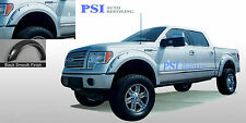 BLACK PAINTABLE Pocket Bolt Rivet Fender Flares 2009-2014 Ford F-150 Full Set