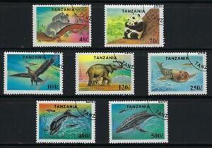 KB305 1994 Complete Sheet Set of 7 Different 25X (175) Wild Animals SCV $212.50