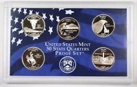 2007 United States State Quarters Proof Set GEM Coins with Box & COA