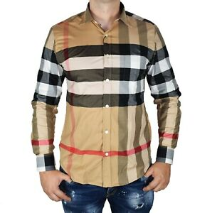 Burberry Long Sleeve Beige Casual Shirt for Men