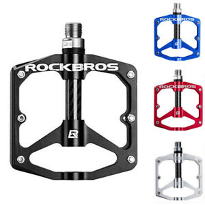 ROCKBROS Road Bike Pedals Flat 9/16 MTB Bicycle Pedals Carbon 3 Sealed Bearings